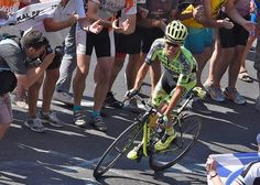 Rafal Majka negotiates a switchback on his way to the stage 11 win.