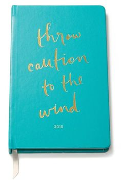 kate spade new york 12-month agenda Turquoise $40 | #soielove
