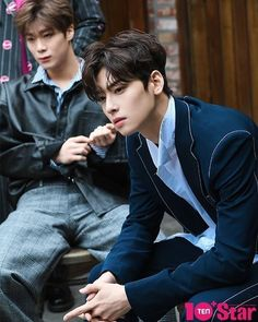 Moonbin and Eunwoo Asian Actors, Korean Actors, Pretty Boys, Cute Boys, Day6 Sungjin, Cha Eunwoo Astro, Astro Wallpaper, Lee Dong Min, Pre Debut