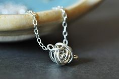 Tiny Teeny Tornado necklace   sterling silver wire by muyinmolly on Etsy
