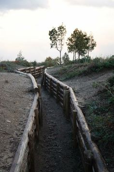 Some of the remaining trenches in Gallipoli Turkey