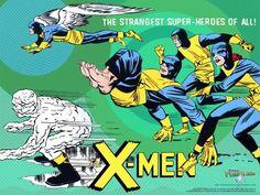 The Original teenage X-Men by Jack Kirby Comic Book Artists, Comic Book Heroes, Comic Books Art, Marvel X, Marvel Heroes, Stan Lee, X Men, New Mutants Movie, Jack Kirby Art