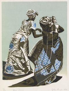JOHN BIGGERS (1924 - 2001)  Ghana Dancers.
