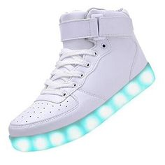 (Present:kleines Handtuch)Schwarz EU 41, Brinny Leuchtend Turnschuhe Farbe Unisex Partyschuhe Sneaker Damen LED mode Sportschuhe Aufladen Herren JUNGLEST® für 7 USB