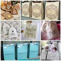 personalized candy buffet bags - favor bags