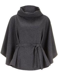 Grey cape - Jackets & Coats - Clothing