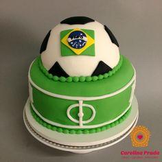 Bolo Futebol / Cake Soccer   #carolinaprada #carolinapradacakes