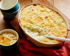 Twice Baked Potato Casserole recipe from Ree Drummond via Food Network. I created a recipe of my own for this many years ago. Great use for potatoes when you make potato skins for an appetizer. I don't mash the potatoes--I like a chunkier texture. Twice Baked Potatoes Casserole, Potatoe Casserole Recipes, Corn Casserole, Hominy Casserole, Cheesy Potatoes, Chicken Casserole, Vegetable Casserole, Mashed Potatoes, Twice Baked Potato Casserole Recipe With Cream Cheese