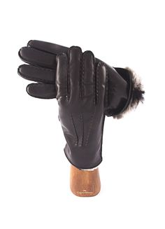 Man gloves. Lambskin and fur. handmade in Italy. Capri Gloves