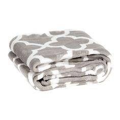 Gray Quatrefoil Oversized Throw Blanket | Kirklands