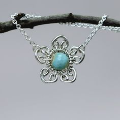 Secret Garden Silver Necklace Free Shipping by CammieLaneJewelry