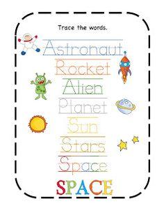 Learn about space preschool packs