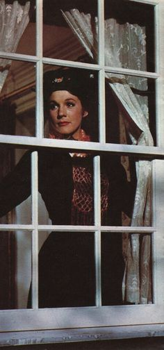 """Mary Poppins ~ portrayed by Julie Andrews, who later won an Academy Award for her performance in the movie musical, """"Mary Poppins""""."""