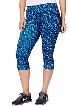 e3f879d2a09 Nike Plus Size Printed Capri Leggings 1X Deep Royal Blue     You can get
