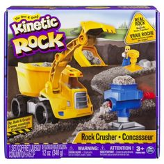 Kinetic Rock - Rock Crusher Playset