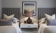 Twin beds for a guest room can make a chic change from a double bed