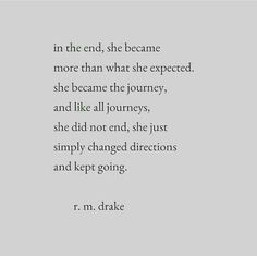 Journey. New direction. Hope