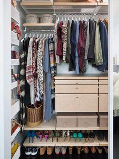 Small Master Closet, Master Closet Design, Master Bedroom Closet, Small Closets, Dream Closets, Kids Closet Storage, Girls Closet Organization, Wardrobe Storage, Organization Ideas