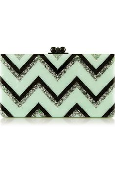 Jean Chevron Glittered Box Clutch, £1,065 | Edie Parker