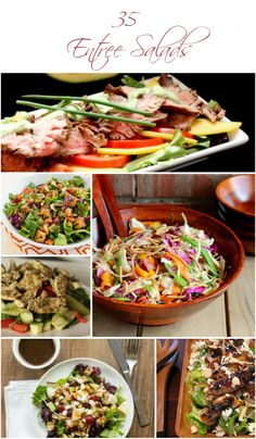 35 Satisfying Entree Salads - Get healthier with these salad recipes