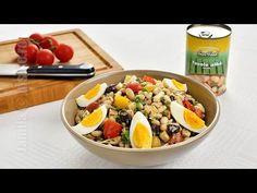 Salata de fasole cu pui - reteta video | JamilaCuisine Hummus, Cobb Salad, Acai Bowl, Cooking, Breakfast, Food, Dressings, Youtube, Salad