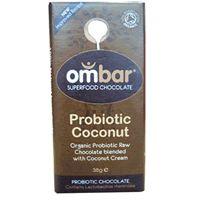 Ombar Raw Organic Probiotic Coconut Chocolate- best ever raw choc