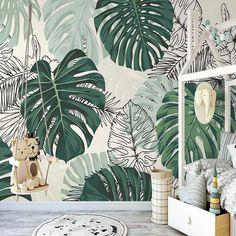 Self-Adhesive Wallpaper Mural Modern Tropical Plant Leaves (㎡)