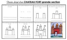 dessin dirigé d'un chateau GS Chateau Moyen Age, Château Fort, Arts Ed, Prince And Princess, Diy For Kids, Knight, Fairy Tales, Teaching, Classroom