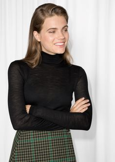 Other Stories image 2 of Basic Wool Turtleneck  in Black