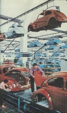 Volkswagen factory in West Germany, 1959.