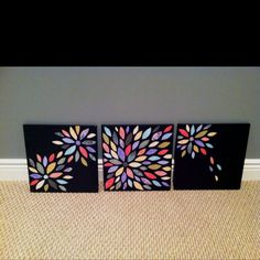 Scrapbook paper art-Would be fun for Kayla to do!