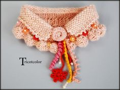 hand made knit collar