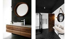 LARGE BLACK HEX FLOOR TILES... TROUGH sink blackband_design_statement_wall_inspiration_2