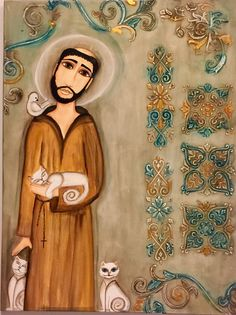 St. Francis of Assisi - I love this illustration of him.