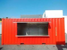Container Shop, Ferrat, Store Design, Food Truck, Garage Doors, Restaurant, 3d, Business, Outdoor Decor