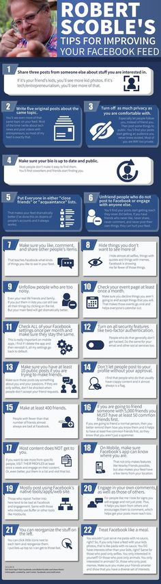 What Are 22 Hot Tips For Improving Your Facebook Feed? #infographic