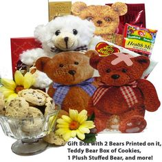 Art of Appreciation Gift Baskets Bear Hugs For You Sweets and Treats Tote with Teddy Bear Get Well Gift Baskets, Get Well Gifts, Gourmet Gifts, Food Gifts, Gourmet Candy, Paper Board, Bear Print, Candy Gifts, Hug You