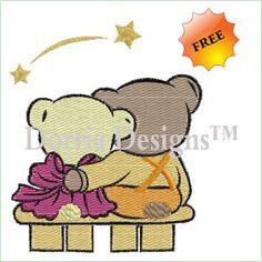 teddy bears embroidery design 407