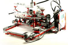 Leon Overweel (14yrs) created this printer using Lego @Kristen Harper - playing with Lego pays off!