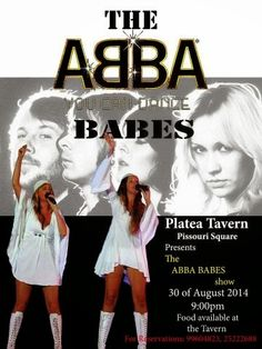 #AbbaBabes at #PlateaTavern, #Pissouri Square, 30/8... Dinner reservations: +35799604823 or +35725222688. Shared by Nikki at www.pissouribay.com. https://plus.google.com/+PissouribayCyp.