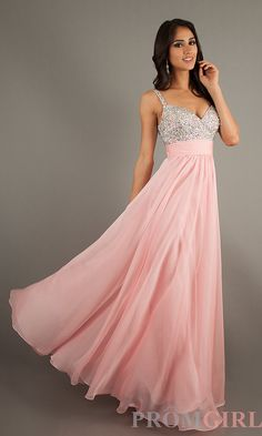 La Femme Prom Gown, Elegant Long Dress for Prom- PromGirl (Cotton Candy Pink) $250.00