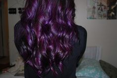 wow purple and dark brown hair combination