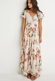 FOREVER 21 Raga Tropical Getaway Maxi Dress, love th is look, just not sure if it works for me. Look Boho, Vestido Casual, Boho Fashion, Womens Fashion, Floral Fashion, Dress Fashion, Fashion Clothes, Style Fashion, Fashion Beauty