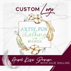 Cotton Feather Logo for Artsy Fun Chalking with Belinda