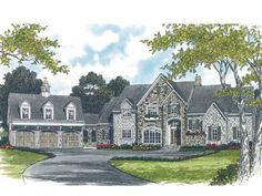 Eplans French Country House Plan - English Country Design - 5969 Square Feet and 6 Bedrooms(s) from Eplans - House Plan Code HWEPL04031