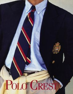 Here, an attempt to inject some street cred into the preppy uniform, with a sweater tied around the waist.