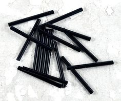 Items similar to Black Bugle Beads Loose - Tube - Barrel - Also in Assorted Colours - Red Blue Peacock - - Jewellery and Craft Supplies - 20 pcs on Etsy Craft Kits, Craft Supplies, Bead Store, Amazing Shopping, Bugle Beads, Peacock Blue, Jewelry Crafts, Red And Blue, Barrel