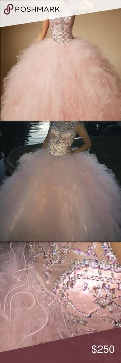 Quinceañera dress. Vizcaya Vizcaya sweet 15/16 dress, in baby pink. I only wore this twice, the day of my pictures and of my party. It does have some small tearing in the bottom because it was a bit long. Overall it's so pretty. I can negotiate price vizcaya Dresses Prom