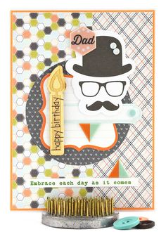 This contemporary male birthday card, with its vintage twist, will have your dad, father or father-in-law smiling from ear to ear. To purchase this birthday card, please click on the image.