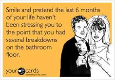 Wedding Countdown The funniest, most accurate wedding planning e-cards! - Whatever stage you're at with your wedding planning, at least one of these funny wedding e-cards will sum up your mood! The Plan, How To Plan, Wedding Ecards, Wedding Humor, Funny Wedding Quotes, Wedding Day Meme, Funny Weddings, Easy Weddings, E Cards